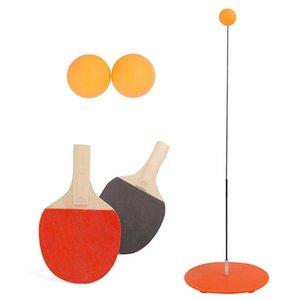 Elástica macia Shaft Ténis de Mesa instrutor Set auto-estudo Ferramentas Ping Pong bola Set Para infantil ao ar livre Toy Fun