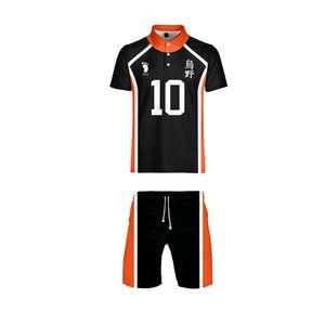 Anime Haikyuu Cosplay Karasuno Liceo Volleyball Club T-shirt e pantaloncini abbigliamento casual Uniforme sportivo Maglie