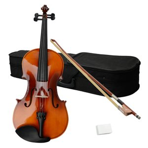 15 Inch Acoustic Viola Musical Instruments with Case Bow Rosin Brown for Adults Free Shipping From USA