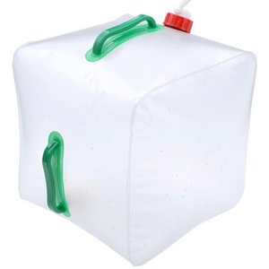 20L Durable PVC Large Collapsible Drinking Water Bag Foldable Water Carrier Container Bottle For Outdoor Camp Picnic
