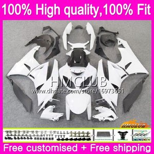 OEM Injection For KAWASAKI ZX600 CC ZX636 ZX-6R ZX6R 09 10 11 12 54HM.7 ZX 636 600CC ZX-636 ZX 6R 2009 2010 2011 2012 Glossy white Fairing