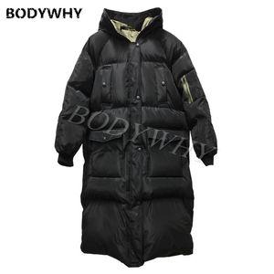 2020 Printemps Hommes Veste d'hiver - Coton en forme de soie rembourrée Capuche à capuche en vrac Ajustement chaud Long Puffer Jacket manteau d'hiver Cheval d'hiver Cheval de sortie