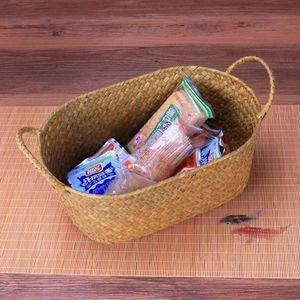 Osier tissage Panier de rangement pour la cuisine à la main compotier rotin pique-nique Aliments Pain Pain Mêle neatening Container Case