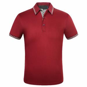 Für Männer Designer POLO Marke Herren Designer Polo Klassische Stickerei-Entwurf Baumwolle Herren Kurzarm-Shirt Shop Aktivität Tiefstpreis