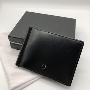 Couro de Luxo dos homens Casuais Titular da Carteira de Luxo Duplo Desconto Preto Cartão de Crédito Curto Bolso Fino de Alta Qualidade Caixa Premium