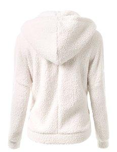 Kadınlar Hoodie Kadın Giyim Yeni Kış Sonbahar Sıcak Ceket Kapşonlu Casual Bayan Düzenli Sweatershirt Katı Yumuşak Polar Kadın Coat Ss214
