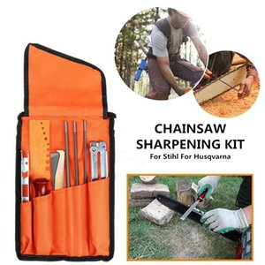 10PCS / Set professionale Chainsaw catena affilatura Tool Kit per la catena Sharpen Saw strumento File