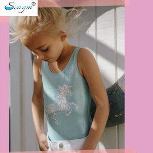 Seagm 3-8 лет мычка Sequins единорог цельный детский купальный костюм для девочек купальный костюм детский купальник плавленый блестящий купальный костюм 22