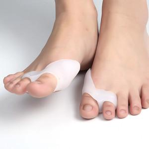 Силиконовые Toe Separator мозолей Splint Hallux сустав Коррекция Перекрытие разбрасыватель ног Protector Вставки Toe Уход KKA7898