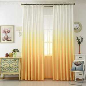 Gradient color 3D printing curtains Tulle transparent curtains living room bedroom kitchen home decorative tulle