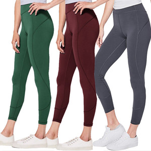Top quality donne yoga pantaloni LU A Vita Alta Sport Gym Wear Leggings Elastico Fitness Lady generale Collant Completi allenamento
