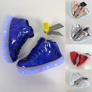 Kids S Lights Energy Lights Ultra shoe Infant Children sports shoes girls boys Energy Lights Smooth synthetic upper high top clean Sneaker