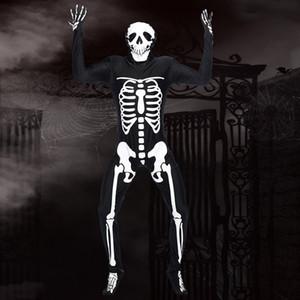 Crâne Imprimé adulte combis avec casque festival Halloween Party Masquerade Costume hommes cosplay élastique crâne Tenues DH1167 T03