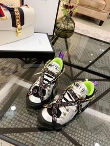2019 yaz bahar Bayan Bayanlar gerçek deri örgü ile Rhinestones kristal moda Süslenmiş çapraz toka kayış Çıkarılabilir sneakers 632