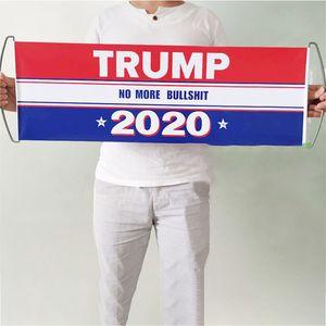 Дональд Трамп Flag Ручной Trump флаг Бампер Keep America Great Флаг Баннер Trump 2020 Президент Избирательные флаги 24 * 70см WX9-1835