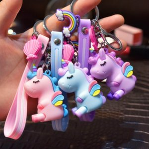 Cartoon Accessories Kids Designer Fashion Unicorn Doll Keychain Creative Bag Pendant Small Gift Accessories for Children Bags 2020