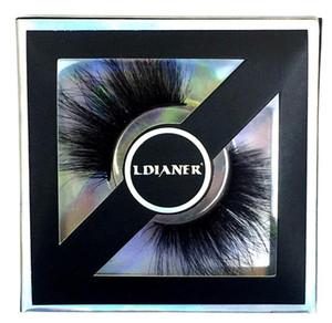 8D Cils 25 mm ~ 28 mm long et épais Mink Lashes main Maquillage Faux cils doux cils Extension outil 9STYLES nouvelle GGA2662