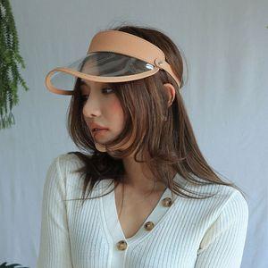 PVC 2018 vazio superior transparente das mulheres do verão com os chapéus de Sun das senhoras do plutônio