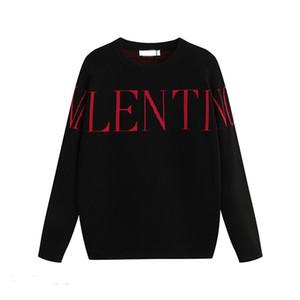 19Top шерсть пуловер зима теплая вязать свитер пуловер жаккард вязать письмо Вышивка рубашка рубашка пальто
