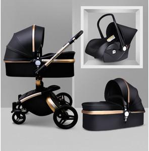 ¡Envio GRATIS! babyfond 3 en 1 cochecito de bebé de la PU de dos vías carro coche absorbentes bebé carro de Europa con el paraguas regalo