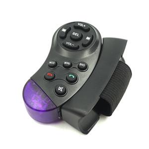 """Volante remoto para controle do carro multimídia controlador Player para suporte rádio do carro universal 4 """"/ 7"""" 1/2 din MP5 portátil"""