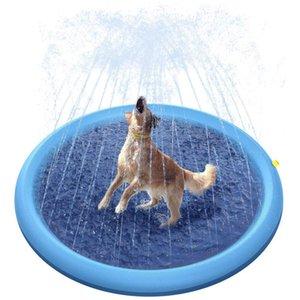 Pet Sprinkler Splash Pad Play Mat Sprinkler Pool Outdoor Inflatable Water Spray Pad Mat Tub Swiming Pool For Dog Babies Childs