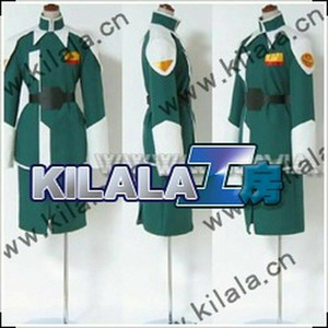 Costume Mobile Suit Gundam Seed Athrun Zala ZAFT Military Green Gonna Cosplay