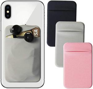 Stick Portafoglio supporto adesivo Phone Card elastico Lycra RFID carta di credito tasca sulla manica universale per iPhone Samsung Cellulari