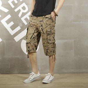 dos homens ao ar livre jogo de bola Sports Wearproof bolsos de carga Shorts Masculino Verão Escalada Pesca respirável joelho Curto Calças
