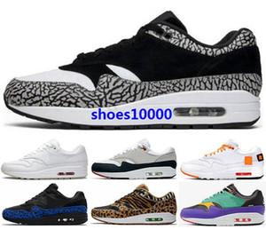 1s 1 mens uomini addestratori parra aria scarpe 87s viola in corso Sneakers max ATMOS 87 donne di formato noi 5 12 46 bianchi atletici classici per bambini Runners