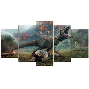 Peinture sans cadre diamant 5d Diy diamant broderie 5pièce affiche de caractère de film Images de dinosaure pour enfants DecorationZP-1437