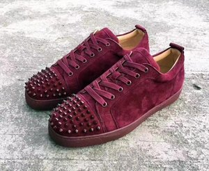 Blau Low Sneaker aus Wildleder mit stacheligen Toe Rantus Orlato Lovers Designer gute Qualität beiläufige Schuh-Turnschuhe Großverkauf Freies Shiping 32