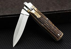 Nuovo selvaggio lama di taglio A161 A162 A163 pieghevole da campeggio lato corno da caccia coltello pieghevole
