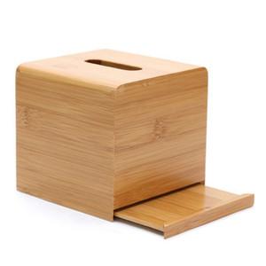 Bamboo Simple Tissue Box Living Room Household Towel Cartridge Box Creative Desktop Roll Tissue