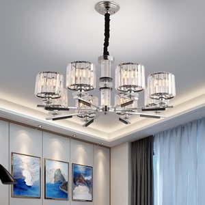 أضواء الكريستال الثريا للعيش غرفة نوم وغرفة الطعام غرفة الأوروبية خمر فاخرة الكروم قلادة الإضاءة الرجعية شنقا