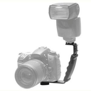 على شكل L زاوية 2 الحذاء فلاش القوس DV القوس صينية المزدوج الحذاء على شكل L فلاش القوس هيئة التصنيع العسكري حامل لكاميرات الفيديو كاميرا DSLR