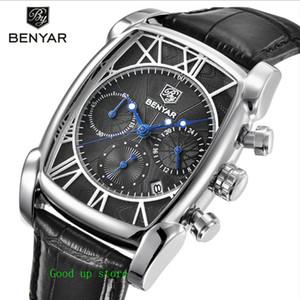 BENYAR 42mm klassische Uhr Mode Männer Uhr-Quarz-Leben wasserdicht drei mustern Gurtuhr Großhandel