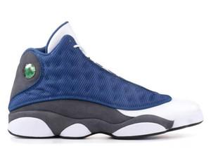 Top Quality 13 Flint reali in fibra di carbonio 3M uomo riflettente scarpe da basket 13s piastrelle bianche scarpe da ginnastica blu con scatola