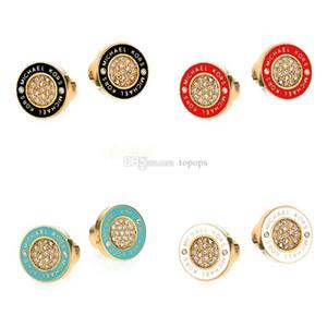 여자 Luxary 브랜드 보석 클래식 디자인 18 천개 로즈 골드 도금 귀걸이 상자 판도라 925 스털링 실버 스터드 귀걸이