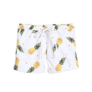 Corrispondenza Famiglia Swimwear del padre della madre dei bambini del costume da Ananas costume da bagno delle donne della ragazza vestito di nuoto uomini Boy Trunks Beachwear