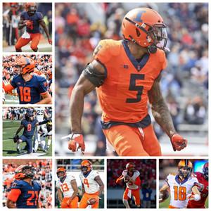 Illinois Fighting Illini maglie AJ Bush Jersey MJ Fiumi II Jeff George Whitney Mercilus Cam Miller College Football Jersey personalizzato cucito