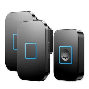 Wireless Waterproof Doorbell Button 1 2 3 Receiver 300M Remote Control 60 Chimes Door Bell Smart LED Doors Ring