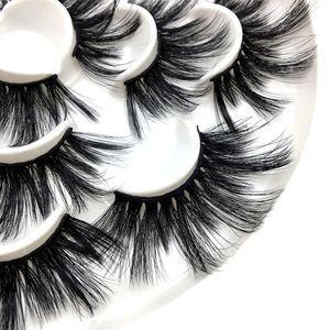 Seven pairs of 25MM eyelashes thick false eyelashes 3D false eyelashes handmade fake Lashes factory wholesale price 100set
