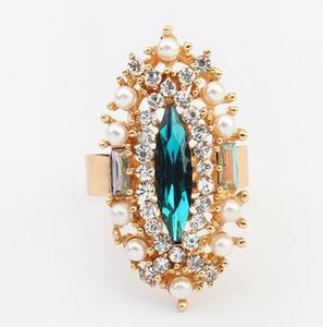 Bagues pour femmes hommes bagues mode magnifiquement bijoux marque engagement comme diamant cristal plaqué or Aolly strass gemmes bagues