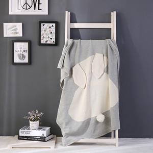 11 tipos de cores da manta ouvidos nova explosão de coelho de malha de algodão cobertor lance cama sofá infantil / mantas de ar cobrem SH190917