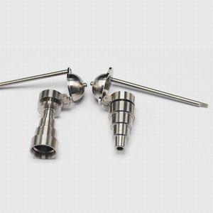 6 in 1 chiodo universale in titanio maschio femmina benna da miele bong 10mm 14mm 18mm accessorio per fumo dabber con tappo da baseball laterale