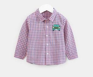2019 New Spring fashion children Lattice stripe automotive pattern T-shirt Cardigan students boy clothes Autumn coat