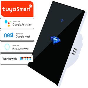 Touch Switch Smart Light Switch Panel Wall interruptor 1 2 3 Gang wifi light switch UK EU Standard Work with Alexa Google Home