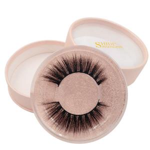 3D Mink Eyelashes Eye Makeup Mink Hair False Lashes Soft Natural Thick Eyelashes Eye Lashes With Round Box Extension Beauty Tools GGA1944