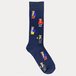 Polo Bear & Crest Dress Socks Men Women Fashion Cotton sock Harajuku Cute Patterend Ankle Sock Hipster Skatebord Ankle Funny Socks Female